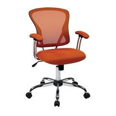Office Star Juliana Task Chair in Orange Mesh
