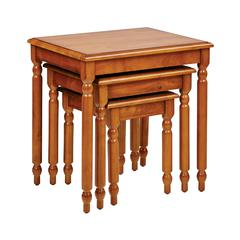 Knob Hill 3pc Antique Cherry Nesting Table Set