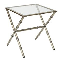 Lanai End Table in Antique Brass Finish