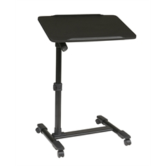 Office Star Mobile Laptop Cart with Adjustable Black Top