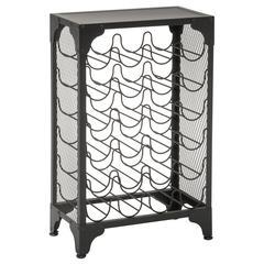 madera wine rack in matte black finish