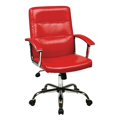 Office Star Malta Office Chair in Red