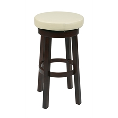 """Office Star 30"""" Metro Round Barstool in Cream Faux Leather"""