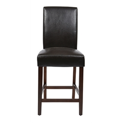 "24"" Parsons Counter Stool in Espresso KD 2-Pack"