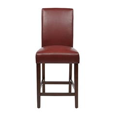 "Office Star 24"" Parsons Counter Stool in Crimson Red KD 2-Pack"
