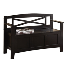 Metro Entry Way Bench With Black finish