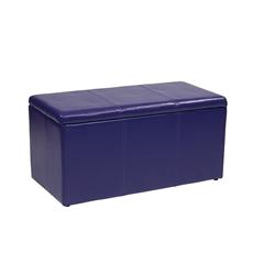 Office Star 3 Piece Purple Vinyl Ottoman Set