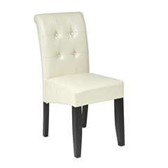 Office Star Cream Eco Leather Parsons Chair