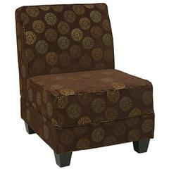 Office Star Milan Chair in Blossom Chocolate