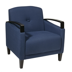 Office Star Main Street Chair in Woven Indigo