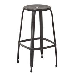"Newark 30"" Metal Barstool In Antique Black Finish 2-Pack. Fully Assembled."