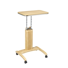 Office Star Precision Laptop Stand in Maple Finish