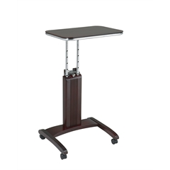 Office Star Precision Laptop Stand in Mahogany Finish