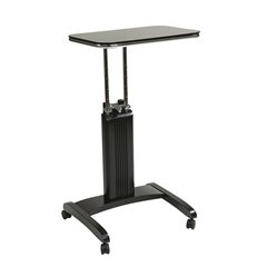 Office Star Precision Laptop Stand in Black Finish