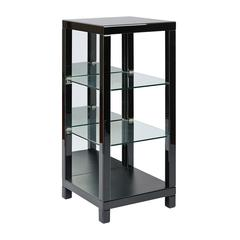 "Reflections 42"" 3 Shelf Glass Curio with Blass Glass Finish, Assembled."