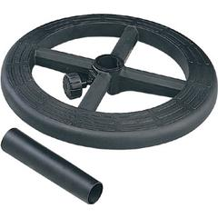 "Stool Kit with Adjustable 19"" Diameter Black Nylon Foot ring"