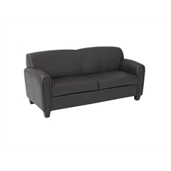 Pillar - Espresso Faux Leather Sofa