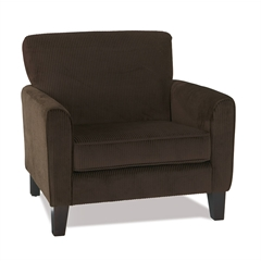Office Star Sierra Chair in Corduroy Coffee