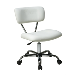 Office Star Vista Task Office Chair in White