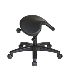 Office Star Pneumatic Drafting Chair. Backless stool with Saddle Seat.
