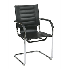 Office Star Trinidad Guest Chair in Black Vinyl