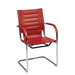 Office Star Trinidad Guest Chair in Red Vinyl