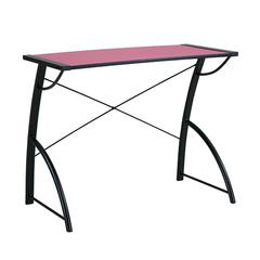 Office Star Trace Reversible Desk in Pink and Black Top