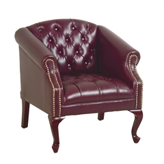 Office Star Queen Ann Traditional Ox Blood Chair