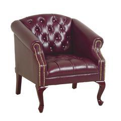 Queen Ann Traditional Ox Blood Chair