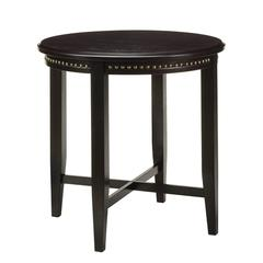 Pub Table with Nail Head Accents in Dark Espresso