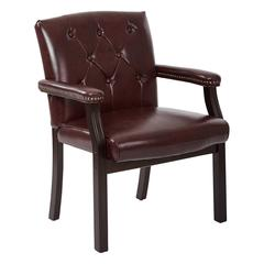 Traditional Visitors Chair with Padded Arms