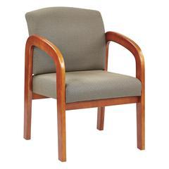 Medium Oak Finish Wood Visitor Chair
