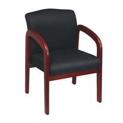Cherry Finish Wood Visitor Chair