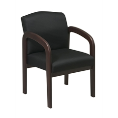 Espresso Finish Wood Visitor Chair