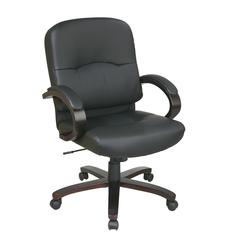 Bonded Leather Mid Back Chair
