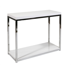 Office Star Wall Street Foyer Table in White