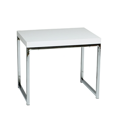 Office Star Wall Street End Table in White