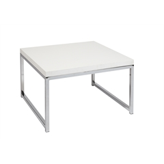 "Office Star Wall Street 28"" Accent/Corner Table in White"