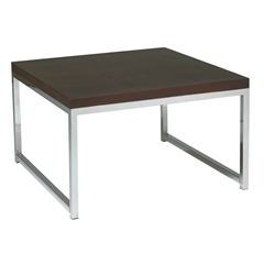 "Office Star Wall Street 28"" Accent/Corner Table in Espresso"