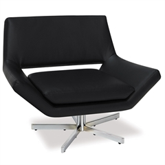 "Office Star Yield 40"" Wide Chair in Black Faux Leather"
