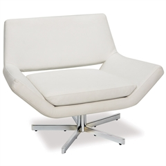 "Office Star Yield 40"" Wide Chair in White Faux Leather"
