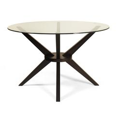 Bianca Dining table, Coffee / Glass