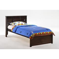 Twin Butterscotch Bookcase Bed in chocolate finish