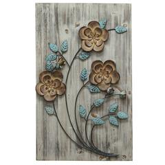Stratton Home Décor Rustic Floral Panel II
