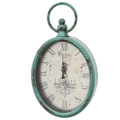 Stratton Home Décor Antique Teal Oval Clock
