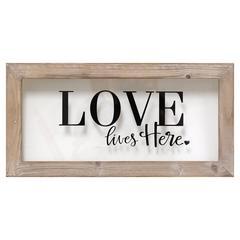 Stratton Home Décor Love Lives Here Framed Art
