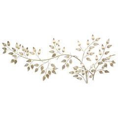 Stratton Home Décor Brushed Gold Flowing Leaves Wall Décor