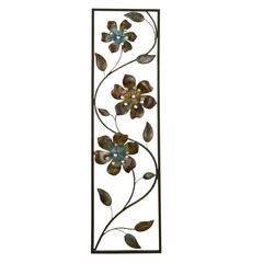 Stratton Home Décor Winding Flowers Wall Décor