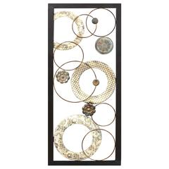 Stratton Home Décor Stamped Circles Panel Wall Décor