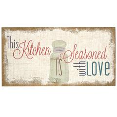 """Stratton Home Décor """"Seasoned with Love"""" Typography Burlap"""